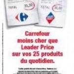 Carrefour revendique être moins cher que Leader Price et Lidl