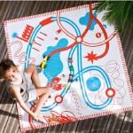 Jouet Noël 2010 : des tapis de jeux en tissu bio top colorés, top designés !