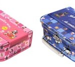 Idée cadeau goûter d'anniversaire : Ma valise rose (ou bleue) avec 4 contes classiques