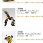 Vente aux enchères de jouets collector pour Petits Princes