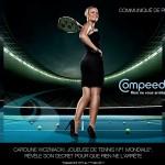 La joueuse de tennis Caroline Wozniacki très féminine pour Compeed
