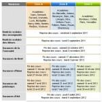 Le calendrier scolaire 2011-2012 est en ligne