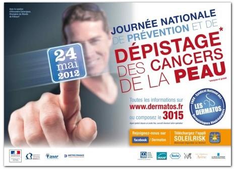 Journée nationale de prévention et de dépistage des cancers de la peau le 24 mai 2012