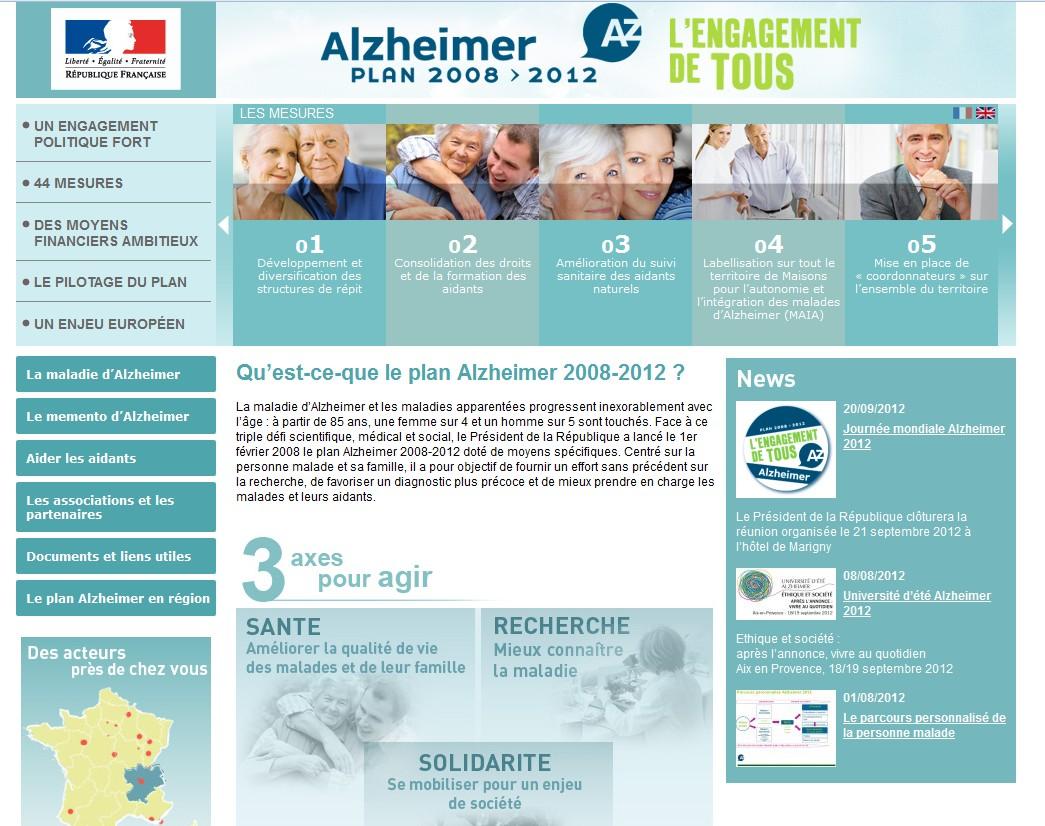 Maladie d'Alzheimer: les orientations du nouveau plan annoncées le 21 septembre prochain