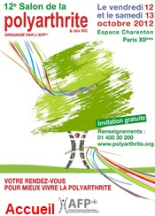 Invitations pour le salon de la polyarthrite et des ric for Salon polyarthrite
