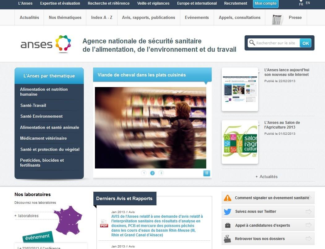 Alimentation, environnement... : un nouveau site web pour l'agence de sécurité sanitaire
