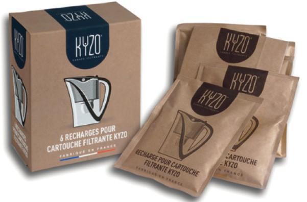 recharge carafe filtrante Kyzo