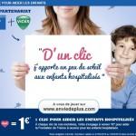 Rappel : J-2 «1♥=1€» pour les enfants gravement malades