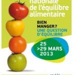 Semaine Nationale de l'Equilibre Alimentaire du lundi 25 au vendredi 29 mars