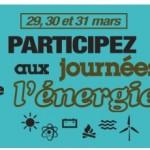 Journées de l'énergie du 29 au 31 mars 2013