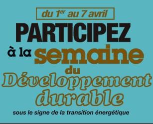 10ème Semaine du Développement Durable : focus sur la transition énergétique