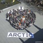 Des bannières humaines pour sauver l'Arctique
