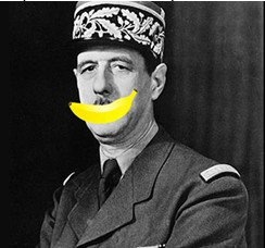 De Gaulle retrouve la banane