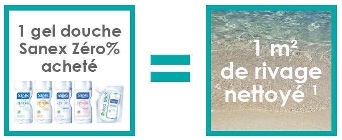gel douche qui lave les plages