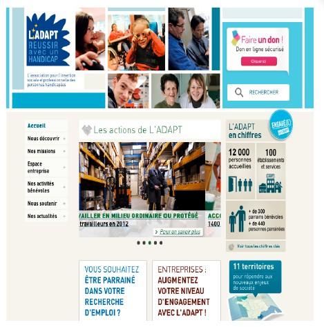 handicap un nouveau site web pour l 39 adapt 24hsant. Black Bedroom Furniture Sets. Home Design Ideas