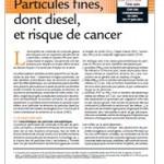 Particules fines et risque de cancer : une fiche repère pour mieux comprendre