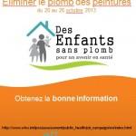 Semaine internationale pour la prévention des intoxications au plomb