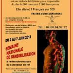 Semaine de sensibilisation à l'hémochromatose du 2 au 7 juin 2014