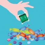 Capsules de lessive liquide : attention aux jeunes enfants