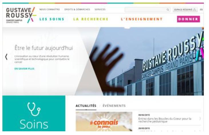 L'Institut Gustave Roussy met en ligne son nouveau site internet