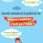 1ère Journée nationale de la qualité de l'air (JNQA), le 25 septembre 2015