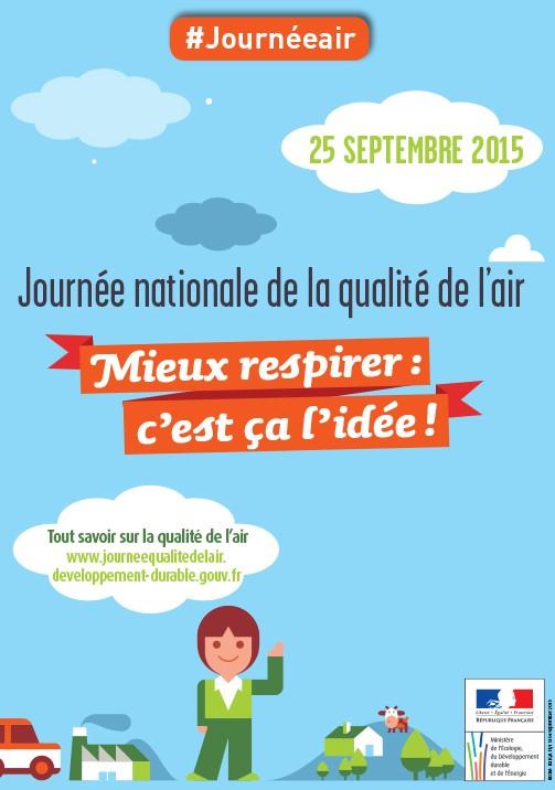 1ère Journée nationale de la qualité de l'air (JNQA), le 25 septembre 2015