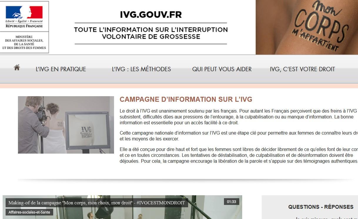 Le site www.ivg.gouv.fr