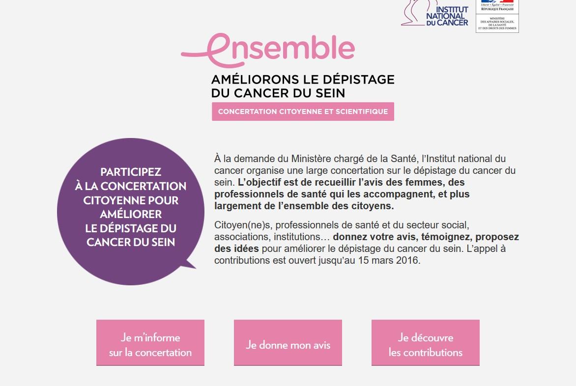 Le site www.concertation-depistage.fr