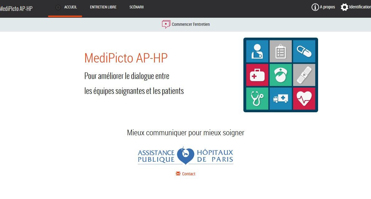 L'appli est accessible à l'adresse http://medipicto.aphp.fr/
