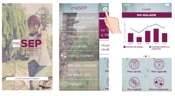 maSEP, une application smartphone pour les personnes atteintes de sclérose en plaques
