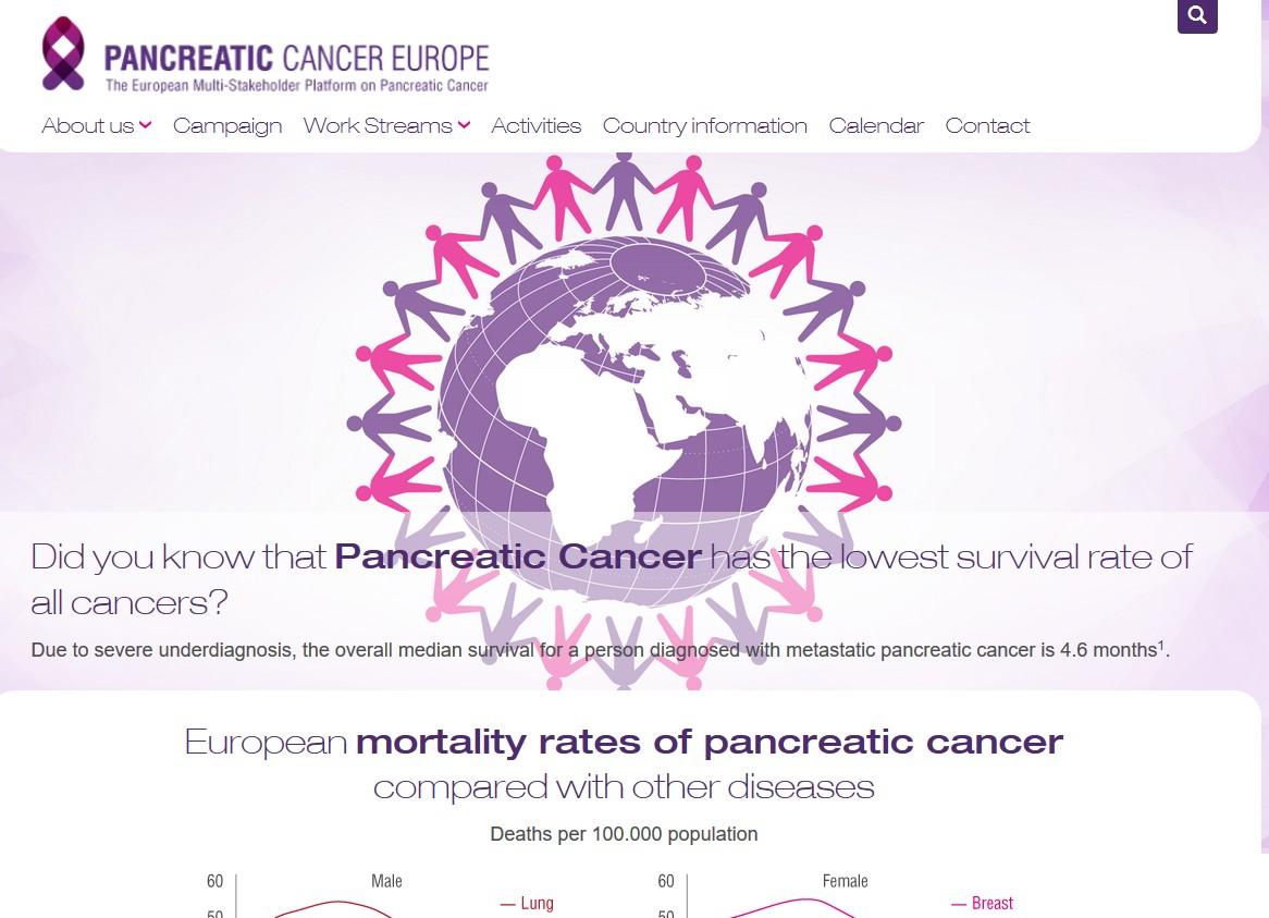 La plateforme européenne web « Pancreatic Cancer Europe »