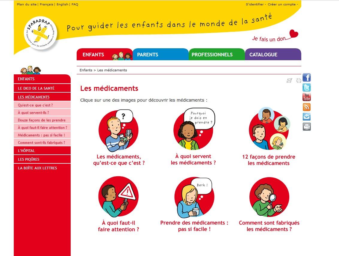 L'association SPARADRAP explique les médicaments aux enfants