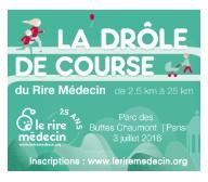 """Participez à la """"Drôle de course du Rire Médecin"""""""