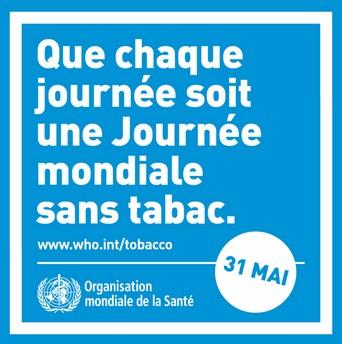 """Journée mondiale sans tabac : """"accompagner les fumeurs vers l'arrêt"""""""