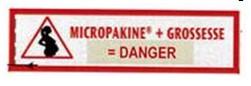 Pictogramme indiquant le danger de l'utilisation d'acide valproïque au cours de la grossesse :