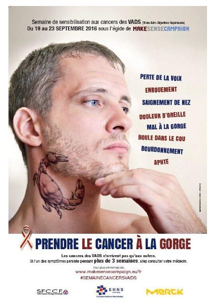 Une campagne pour « Prendre le cancer à la gorge »