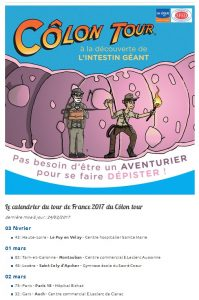La page dédiée du Colon Tour sur le site de la Ligue contre le cancer