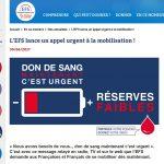 Don du sang : l'EFS lance un appel urgent