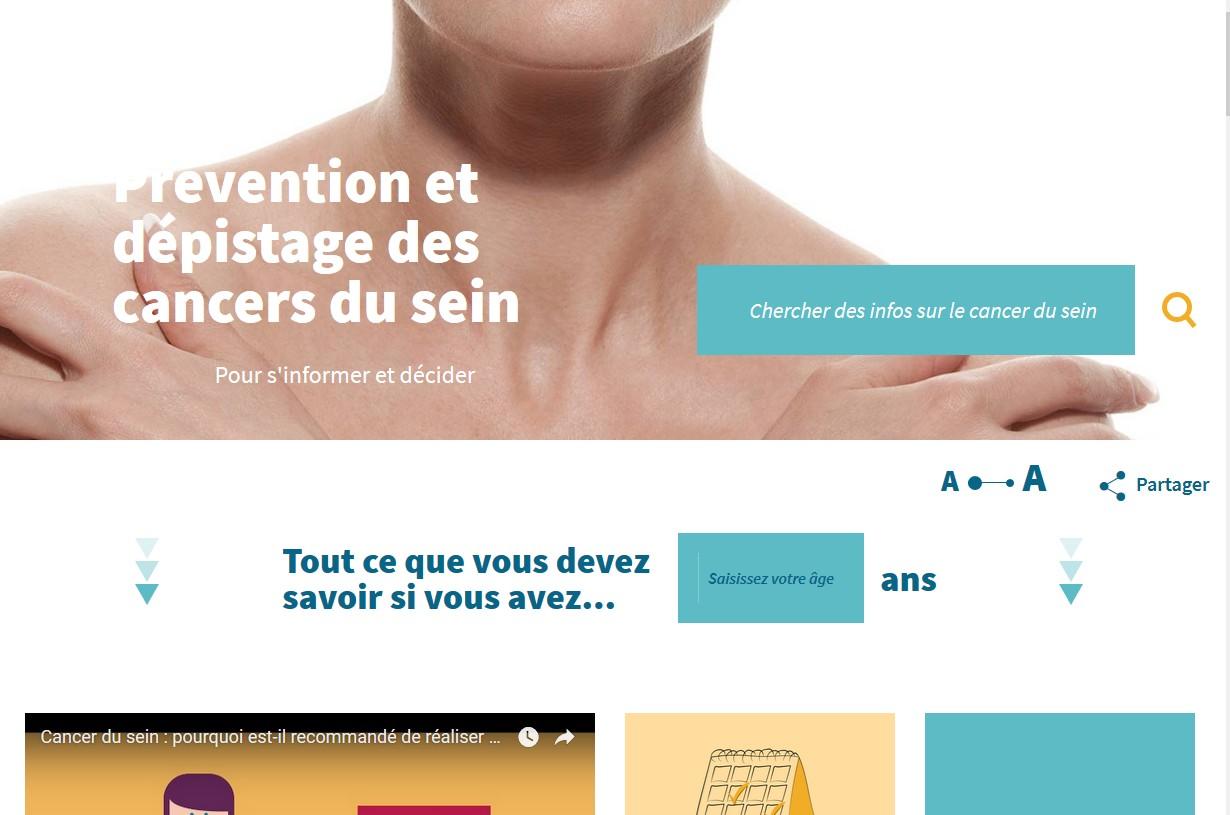 Cancer du sein : une information en ligne personnalisée par âge