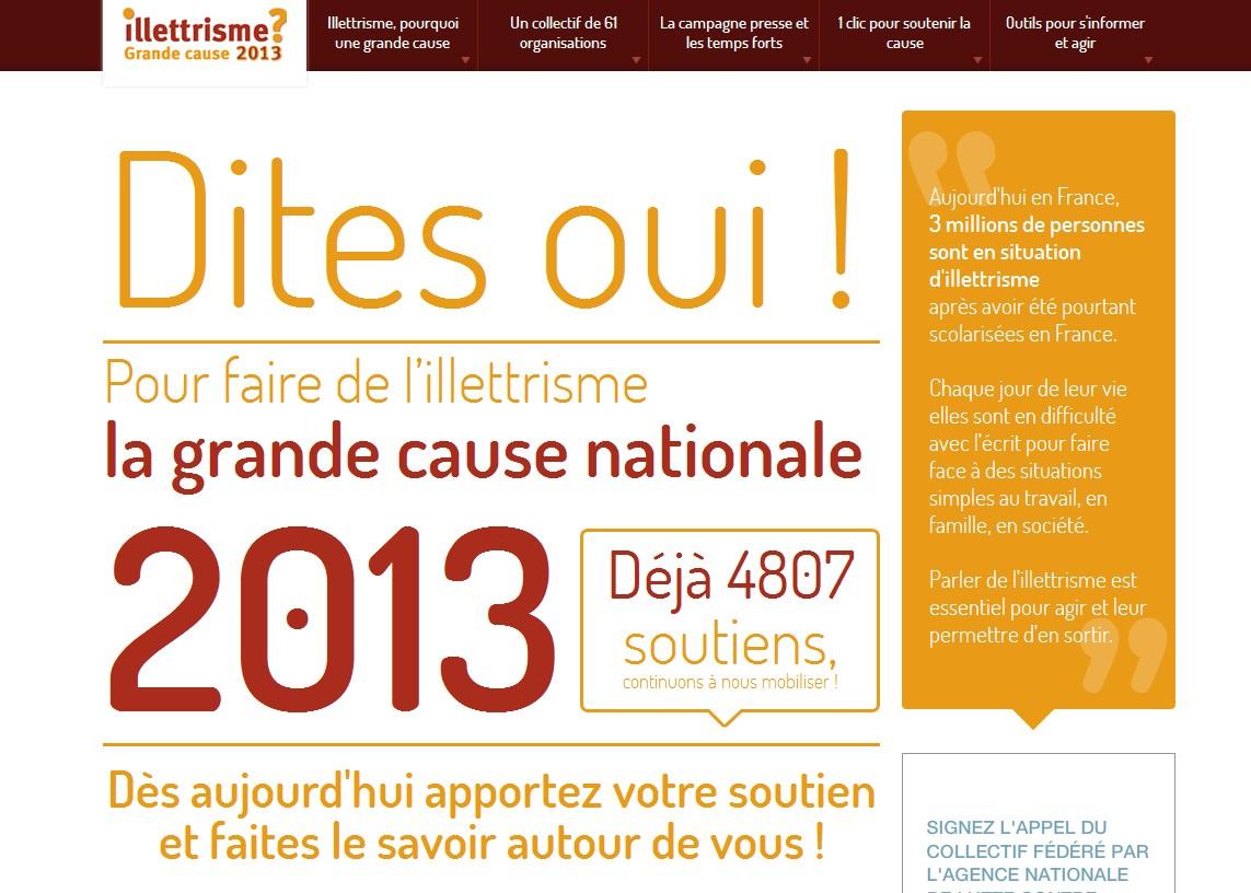 Le site www.illettrisme2013.fr