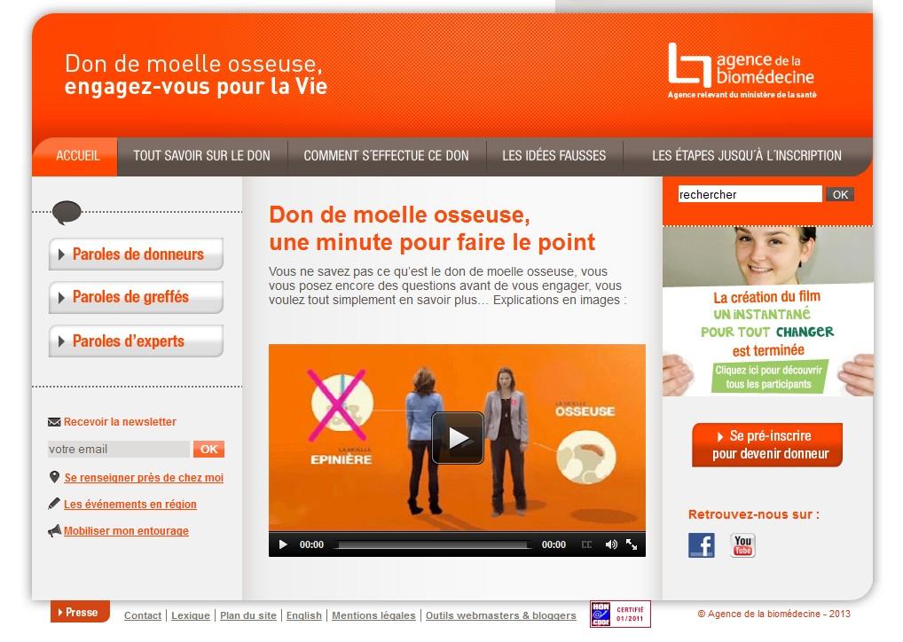 www.dondemoelleosseuse.fr : pour s'informer et s'engager