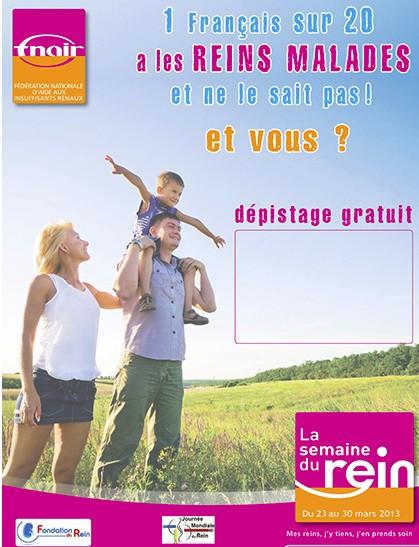 Semaine nationale du rein : des opérations de dépistage dans toute la France