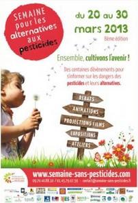 Semaine pour les alternatives aux pesticides du 20 au 30 mars 2013