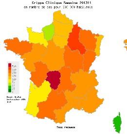 Grippe: l'épidémie saisonnière la plus longue jamais observée en France