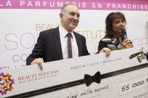 Philippe GEORGES, PDG Beauty Success et Stephanie FUGAIN - lundi 25 mars 2013