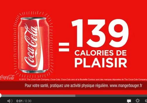 Obésité: Coca-Cola Coca-Cola part en campagne