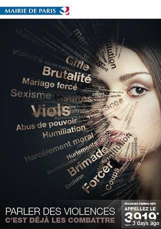 Affiche campagne Paris contre la violence faite aux femmes
