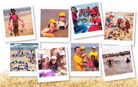 enfants en vacances grâce au sourires Colgate sur FaceBook