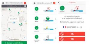Staying Alive, une appli mobile gratuite qui cartographie les défibrillateurs
