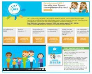 Le site internet dédié au dispositif et à sa réforme : www.info-acs.fr